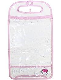 ヒラ商 ランドセルカバー A4大型ワイド 透明クリア ピンク HPRC-02