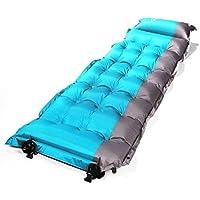 Self Inflating Sleeping Pad、OUTAD CampマットレスパッドCampキャンプ睡眠マットの枕、バックパッキング、ハイキング、テント