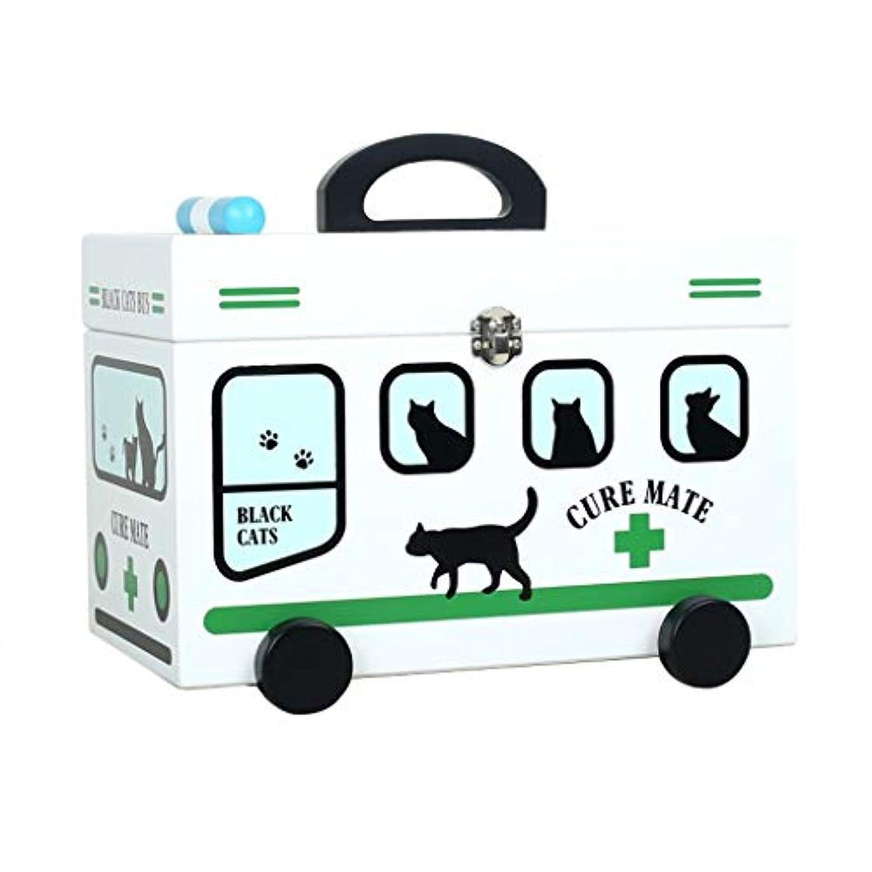 にぎやか上がるマーチャンダイジングTLMYDD ピルボックス薬収納ボックスフルルース高密度ボード家庭用薬箱32×18×26センチ 応急処置キット (Color : Green)
