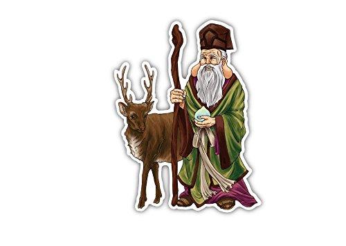 寿老人と鹿