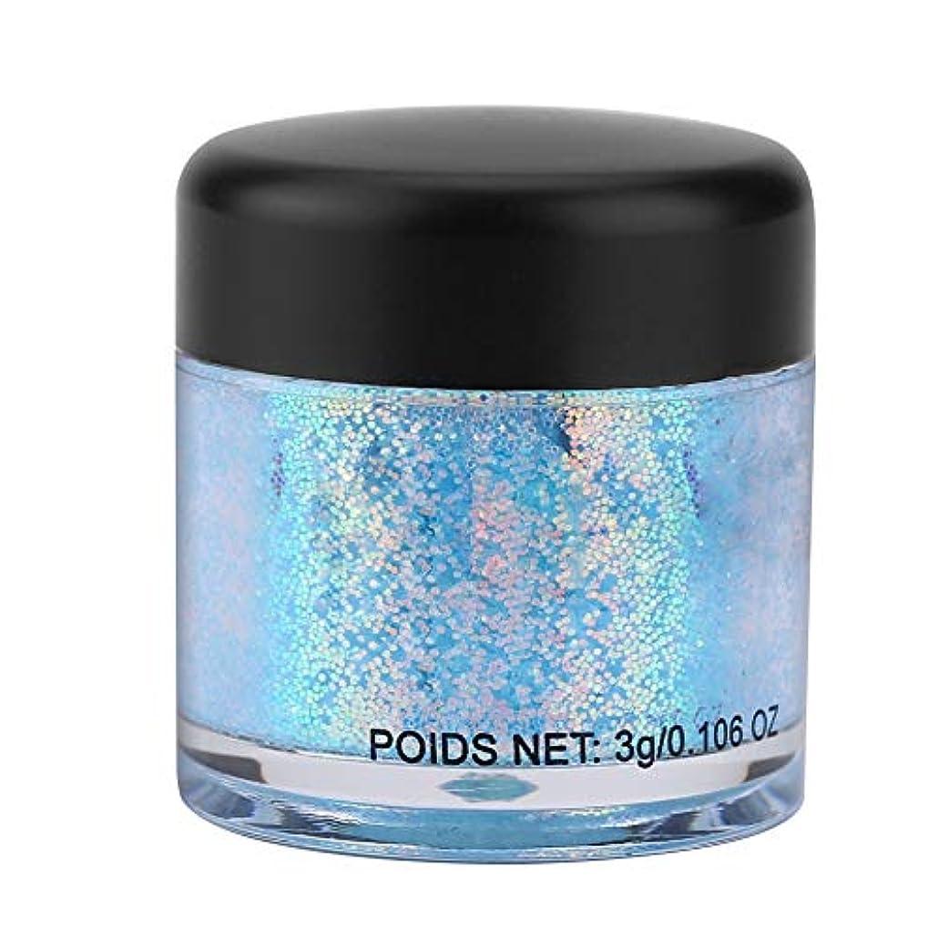ファンネルウェブスパイダー聴く処理アイシャドウメイクアップネイルペイントスパンコール防塵パウダーセット 10色 (ライトブルー)