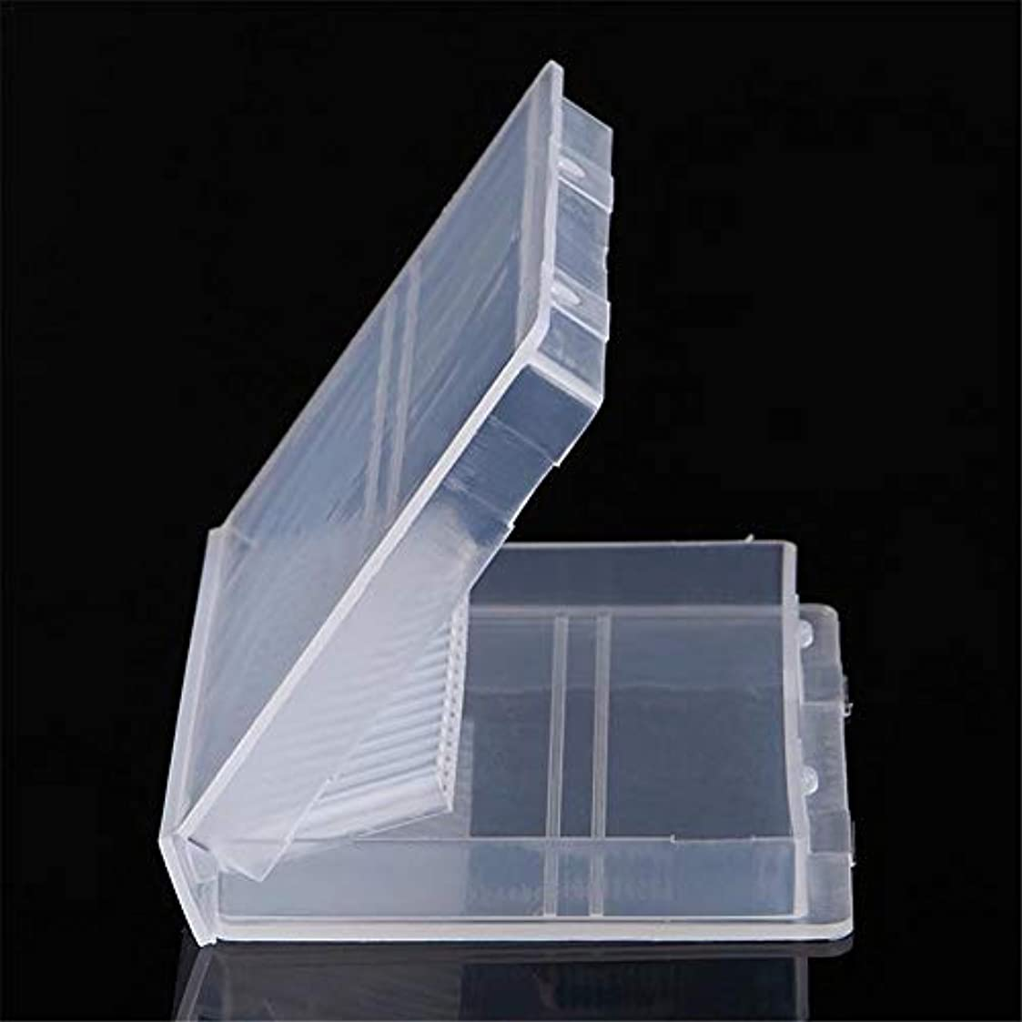 立場月面人気ネイルドリル 収納ケース ネイルビッドセット 研削ネイル用 透明 プラスチック 20穴 ネイル研削ヘッド収納ボックス パーツボックス パーツケース アクセサリー収納