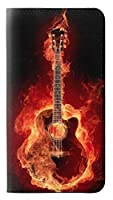 JPW0415MG6 火ギター Fire Guitar Burn Motorola Moto G6 フリップケース
