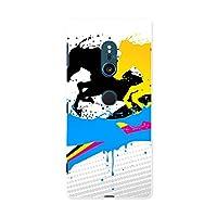 Xperia XZ2 SOV37 エクスペリア XZ Sony ソニー au エーユー スマホカバー カバー ケース tpu ソフトケース ユニーク カラフル 馬 インク ペンキ 007573