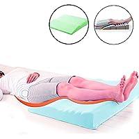 足まくら あ矯正膝枕ベッド睡眠パッド足を上げる背中の痛み、坐骨神経痛、足の痛みのパッド,グリーン