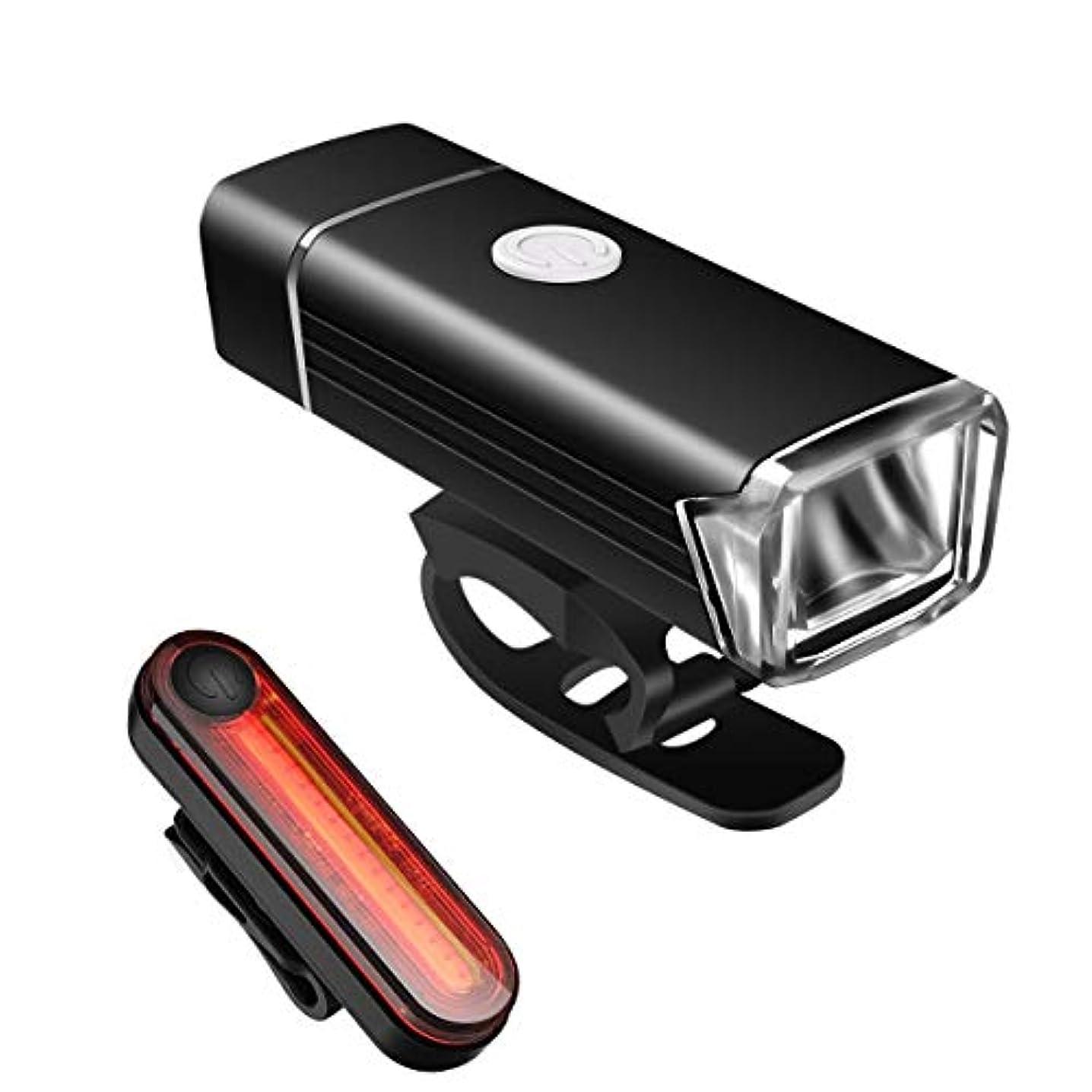 意志冬理論Dealsboom 自転車ライト USB充電式 ヘッドライト テールライト 高輝度 400ルーメン 懐中電灯兼用 IPX5防水 4点灯モード 100メートル以上照射 耐衝撃 アルミ合金製 着脱簡単 アウトドア専用 18ヶ月間安心保証