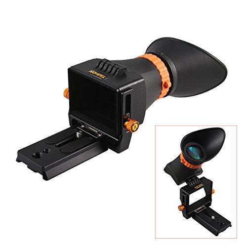 TARION TR-V1 デジタル 一眼レフ カメラ用 LCD 液晶 ビューファインダー 2.5倍 互換性抜群 最大3.2インチ クイックリリースプレー ト付き 撮影機材 キャノン ニコンなどに対応 viewfinder for Canon Nikon Sony Cameras