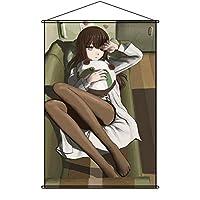 LIBBY タペストリー Steins;Gate シュタインズ・ゲート 牧瀬紅莉栖 まきせくりす Makise Kurisu ポスター 掛ける絵 巻物 軸物 アニメ おしゃれ 萌え (90cmX60cm)