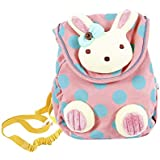Labebe Pink Backpack with Anti-Lost Leash, Bunny Girl Backpack for 1-3 Years