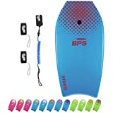 BPS Storm Bodyboard - Includes Premium Coiled Leash and Swim Fin Tethers/Savers