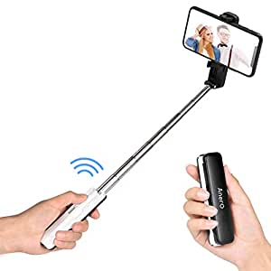 Anero 自撮り棒 セルカ棒 Bluetooth iPhone/Android スマホ等対応 黒