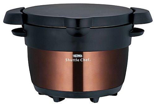 真空保温調理器 シャトルシェフ 1.6L KBB-1600 CBW [クリアブラウン]