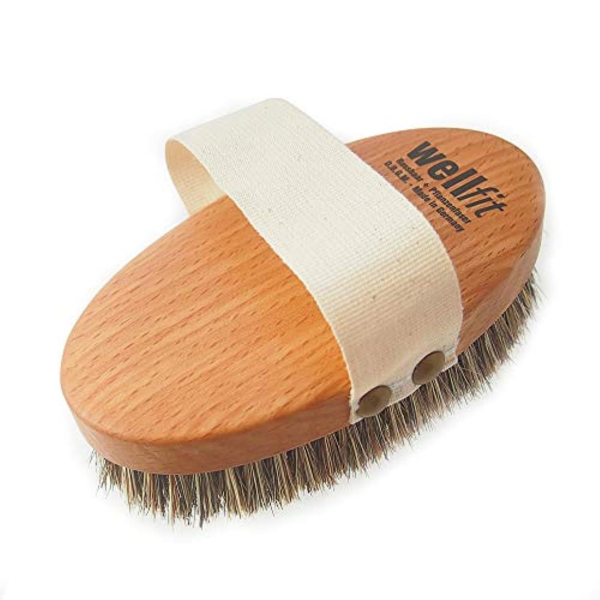 ヤギボクシング前投薬レデッカー Redecker マッサージブラシ(ミディアムハード 馬毛と植物毛の混毛植毛) 正規品