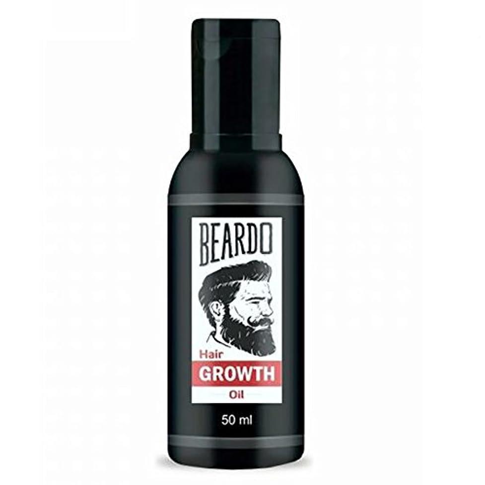 賞暗くするアーティキュレーションBeardo Beard and Hair Growth Oil 50 ml With Natural Ingredients - Rose and Hibiscus Oils
