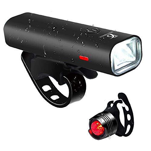自転車ライト USB充電 LEDヘッドライト スポーツ・アウトドア 高輝度4モード対応 自転車・サイクリング 用 ライト 防水 防振 防災フロント用 (ブラック)