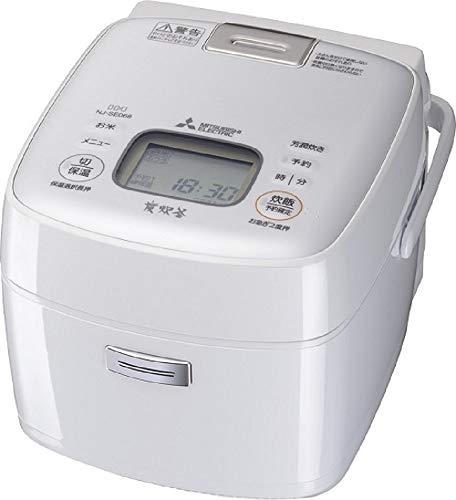 三菱電機 IHジャー炊飯器 備長炭炭炊釜 3.5合炊き ピュアホワイト NJ-SE068-W