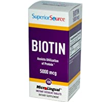 Superior Source Biotin -- 5000 mcg - 100 Instant Dissolve Tablets by Superior Source