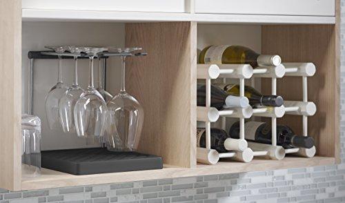 折りたたみ式ワイングラスホルダー 乾燥ラック 1.25インチに折り畳み可能 6個まで収納可能 チャコール