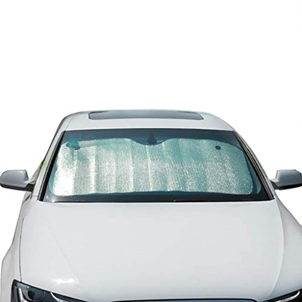 みすぼらしい理容師空厚い銀製の日よけ、トラックの風防ガラスの日よけの日よけの熱折り畳み式のアルミホイル板適用範囲が広いサイズ (Color : Silver, Size : 140*70CM)