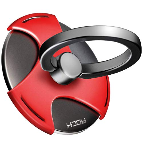 グランフォレ   スマホ リング ハンドスピナー  指スピナー スマホ 携帯 ホルダー リング型 ストレス解消 落下防止 360度回転 iPhone/Galaxy/Xperia 多機種対応 (赤)