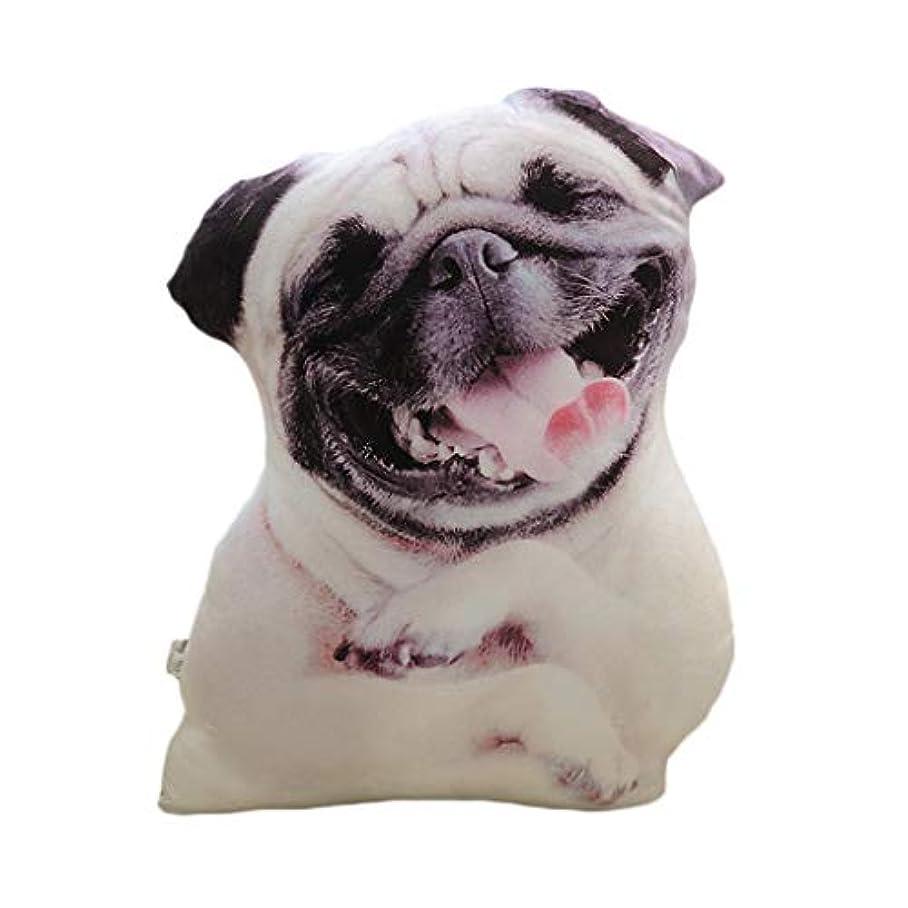 スクレーパー宣言ディプロマLIFE 装飾クッションソファおかしい 3D 犬印刷スロー枕創造クッションかわいいぬいぐるみギフト家の装飾 coussin decoratif クッション 椅子