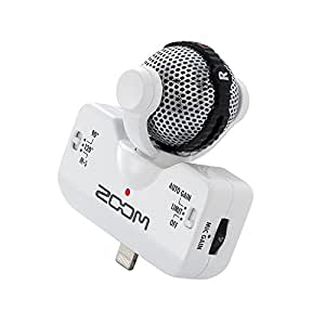 ZOOM ズーム MSステレオマイクロフォン ホワイト iQ5