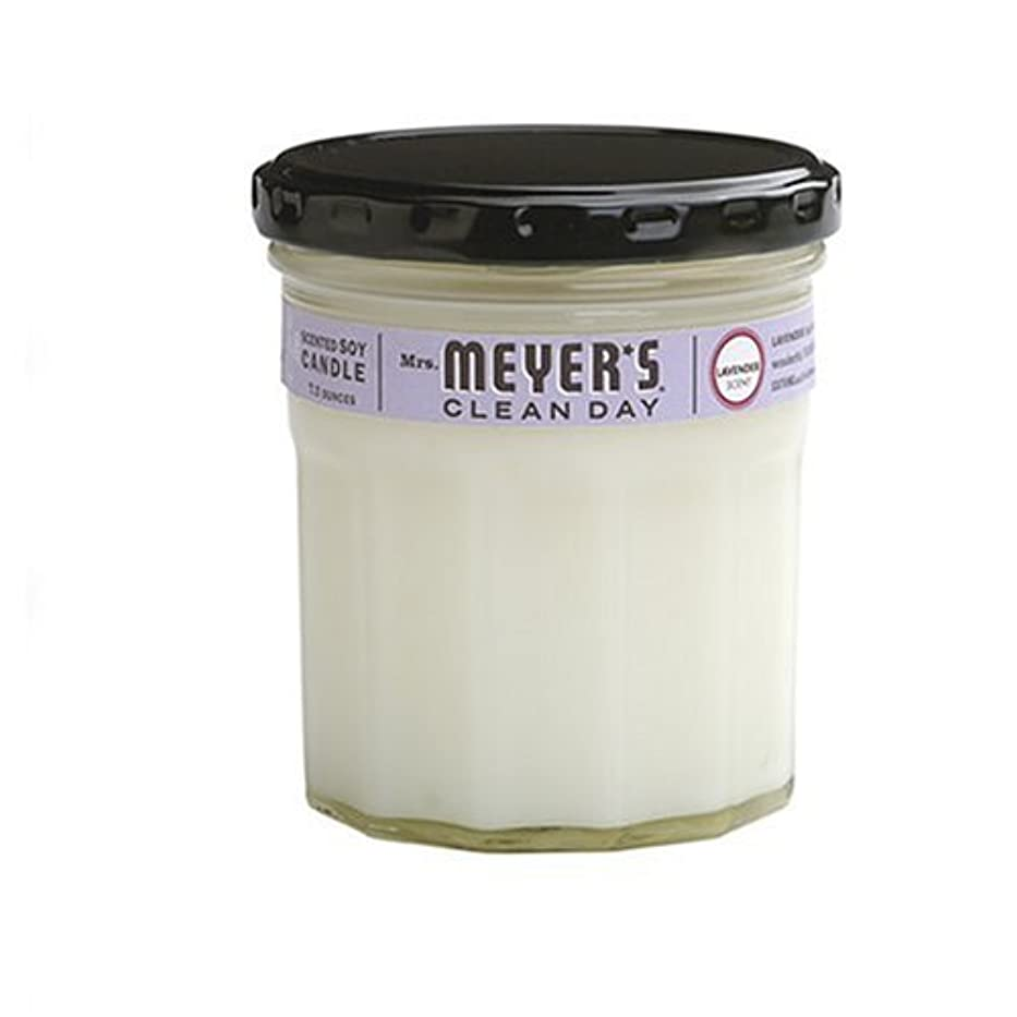 調子優越寝具Mrs. Meyer's Clean Day Soy Candle, Lavender, 7.2 Ounce Glass Jar [並行輸入品]