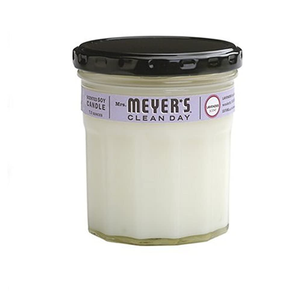 失礼縮約真実にMrs. Meyer's Clean Day Soy Candle, Lavender, 7.2 Ounce Glass Jar [並行輸入品]