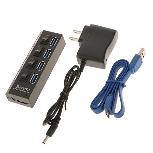 スプリッタアダプタ  4 ポート USB3.0 ハブ+高速ケ...