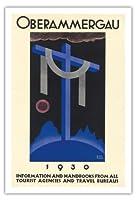 1930オーバーアマガウの受難劇 - バイエルン、ドイツ - ビンテージな宗教的なアート によって作成された リチャード・クライン c. 1930 - アートポスター - 76cm x 112cm