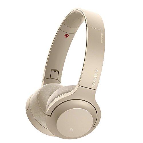 ソニー SONY ワイヤレスヘッドホン h.ear on 2 Mini Wireless WH-H800 : Bluetooth/ハイレゾ対応 最大24時間連続再生 密閉型オンイヤー マイク付き 2017年モデル ペールゴールド WH-H800 N
