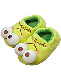 ルームシューズ キッズ 透気 滑り止め かかと付き 防寒スリッパ もこもこ もふもふ スリッパ 子供用 室内 外履き 靴 カエルちゃん 可愛い 兄妹 プレゼント 16~22cm対応