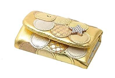 ツモリチサト キーケース マルチドット 5708811 (ゴールド)