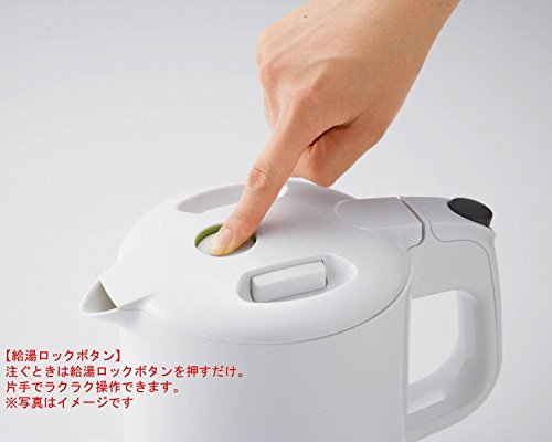 タイガー 魔法瓶 電気 ケトル 800ml ホワイト わく子 PCF-G080-W Tiger