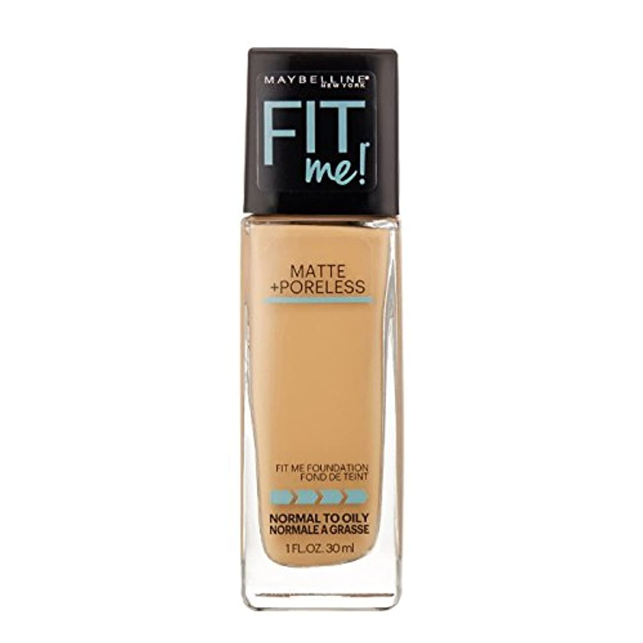 回る薄い治安判事(3 Pack) MAYBELLINE Fit Me! Matte + Poreless Foundation - Natural Buff 230 (並行輸入品)