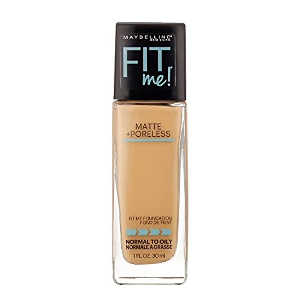 障害作曲家ハンマー(3 Pack) MAYBELLINE Fit Me! Matte + Poreless Foundation - Natural Buff 230 (並行輸入品)