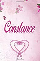 Constance: Personalised Name Notebook/Journal Gift For Women & Girls 100 Pages (Pink Floral Design) for School, Writing Poetry, Diary to Write in, Gratitude Writing, Daily Journal or a Dream Journal.