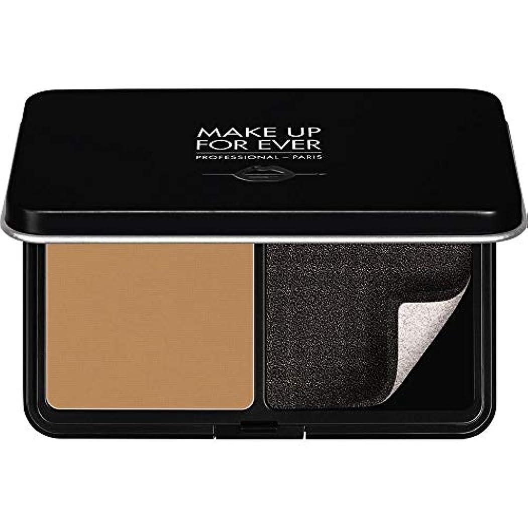 スパン社会レトルト[MAKE UP FOR EVER ] パウダーファンデーション11GののY415をぼかし、これまでマットベルベットの肌を補う - アーモンド - MAKE UP FOR EVER Matte Velvet Skin Blurring Powder Foundation 11g Y415 - Almond [並行輸入品]