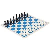 Miniature Chess Combination - ROYAL BLUE BOARD by