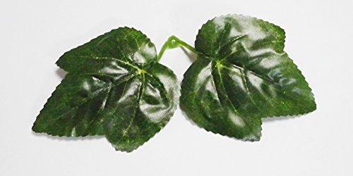 グリーンガーランド 人工観葉植物 リーフ 葉っぱ 造花 ロープタイプ 約230cm + 結束バンド(緑色)5本 セット /SV439 C-3 (3本, ブドウ葉)