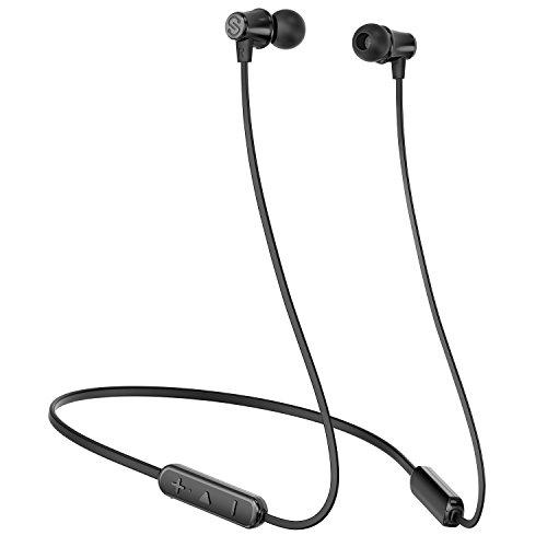 SoundPEATS(サウンドピーツ) Q31 Bluetooth イヤホン ネックバンド型 高音質 超軽量 8時間連続再生 IPX5防水 マグネット搭載 マイク内蔵 カナル型 ハンズフリー CVC6.0ノイズキャンセリング ワイヤレス イヤホン ブルートゥース イヤホン Bluetooth ヘッドホン [メーカー1年保証] ブラック