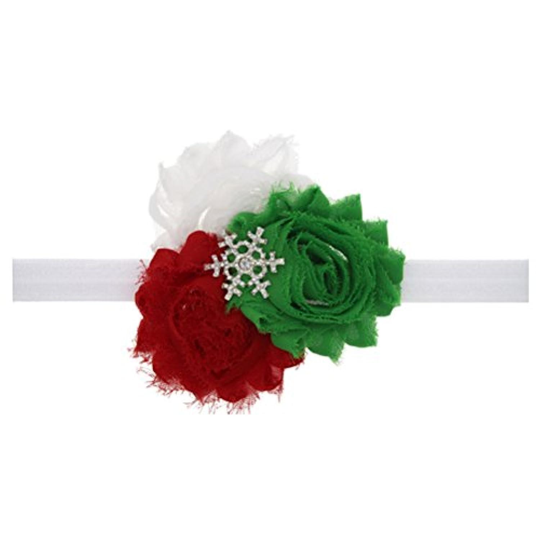 Zhhlaixing ベビー小物 Kids Baby Girls Toddler Silk Flowers Headband Hairband Flower Hair Accessories for Christmas