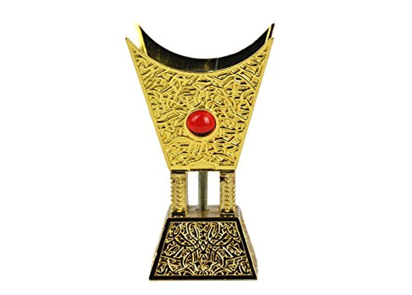 正確快い土砂降りArabia Incense / bakhoor Burner ( Mabkhara ) – Oud Burner、ゴールドメタル、トレイInside – USA Seller