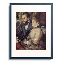 ピエール=オーギュスト・ルノワール Pierre-Auguste Renoir 「Loge. 1873」 額装アート作品
