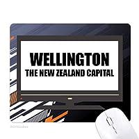 ウェリントンニュージーランドの首都 ノンスリップラバーマウスパッドはコンピュータゲームのオフィス