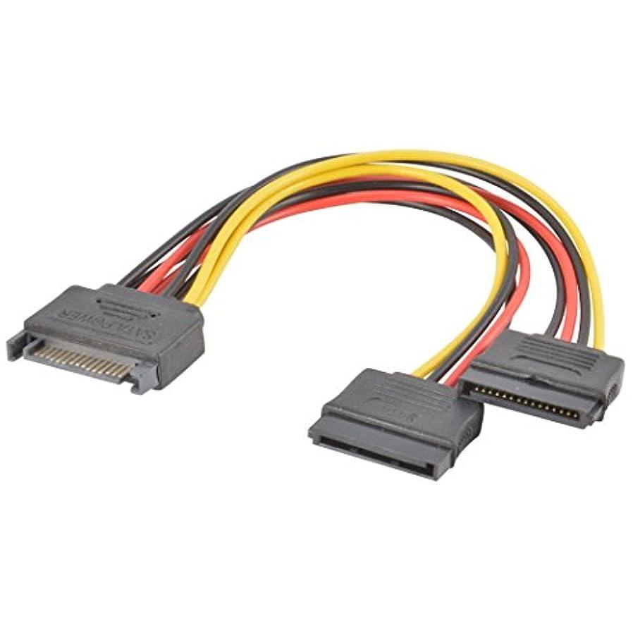 肺炎畝間発明するchezaaケーブル、SATA電源15ピンy-splitterのハードドライブのケーブルオスtoメス