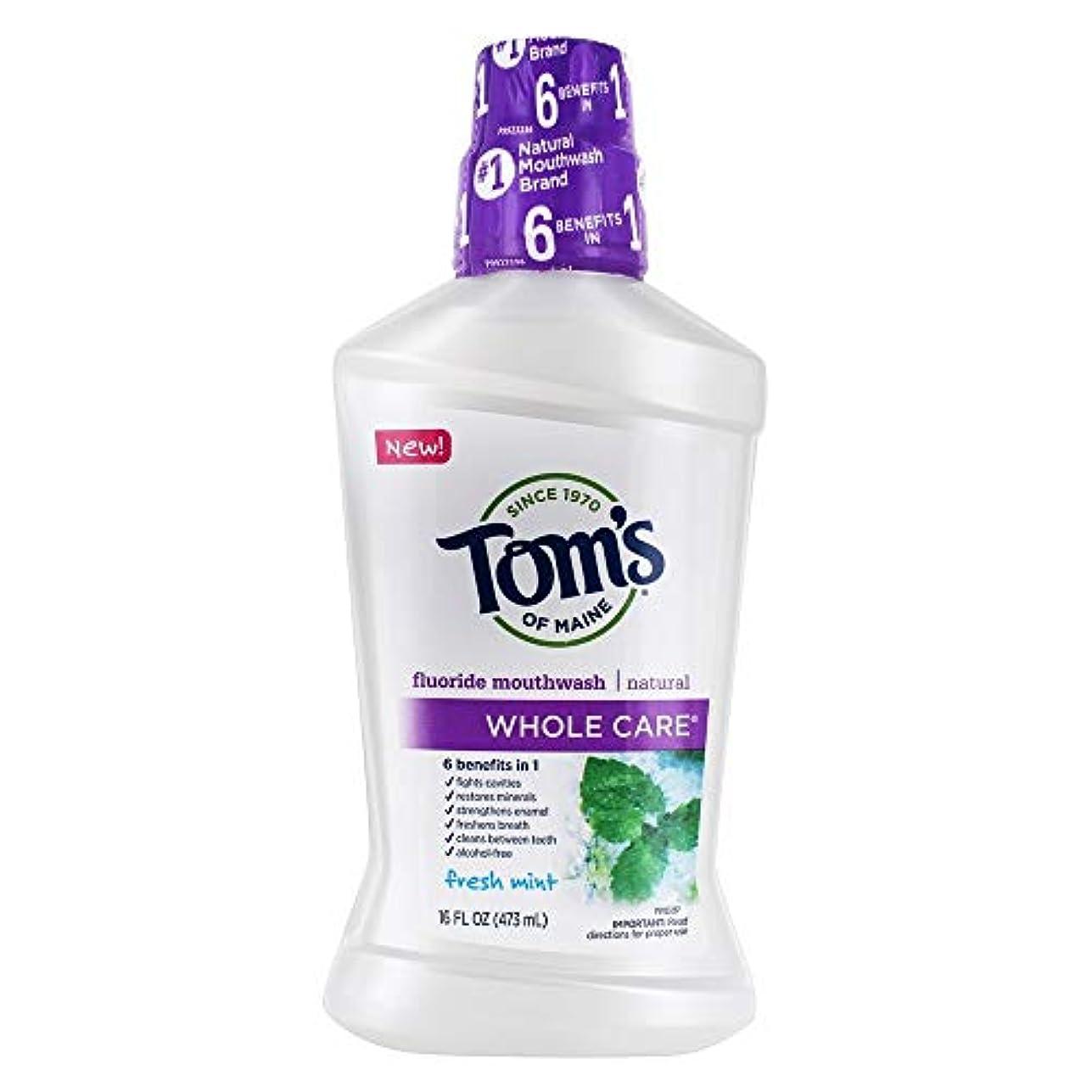 大胆不敵苦い堀Tom's 全体のケアフッ化物洗口液、フレッシュミント、16液量オンス