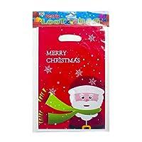 Amosfun 20ピースクリスマスキャンディーバッグポーチクリスマス使い捨てハンドバッグギフトトリートバッグ用クリスマス新年ウェディングパーティー好意用品