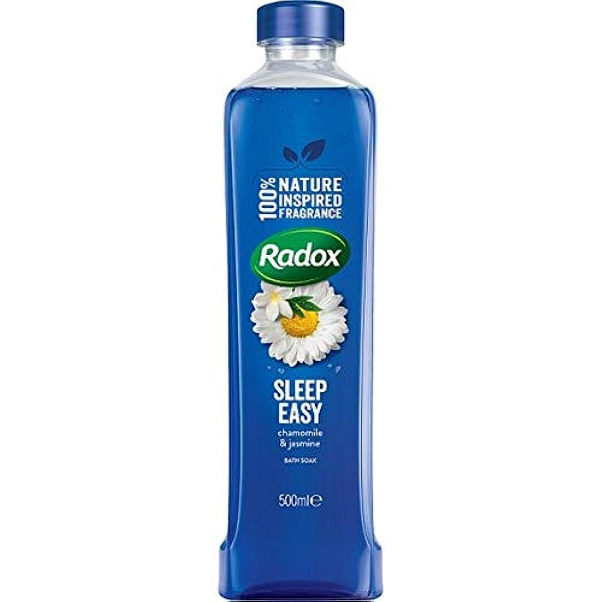 ベアリングサークル恐怖症説明的[Radox] Radoxは、500ミリリットルのソーク良い香りの睡眠簡単にお風呂を感じます - Radox Feel Good Fragrance Sleep Easy Bath Soak 500Ml [並行輸入品]