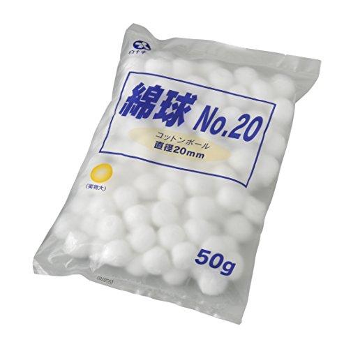 白十字 綿球 No.20 50g 20mm